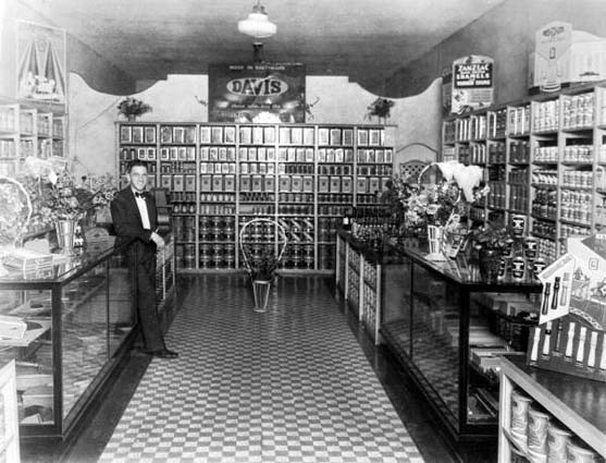 1920s - interior of Don D. Freemans Hardware Store on County Road (later Okeechobee Road) east of Palm Avenue, Hialeah