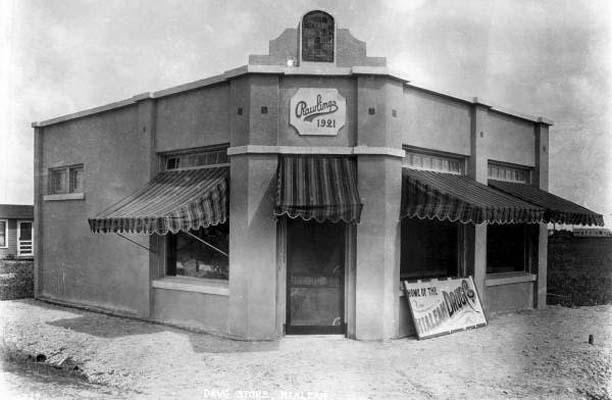 1921 - Hialeah Drug Company, Palm Avenue and E. 1st Street and County Road (later Okeechobee Road), Hialeah