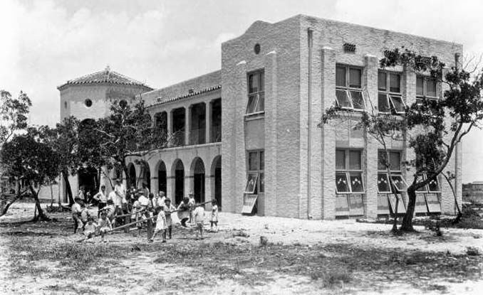 1924 - the Hialeah School at E. 2nd Avenue and 5th Street