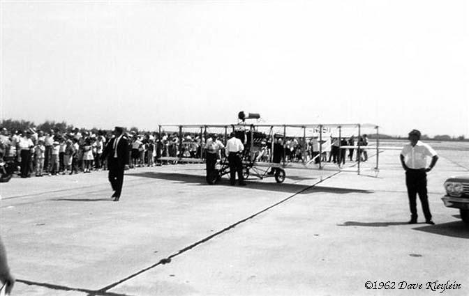 1962 - a replica of Glenn Curtisss Headless Pusher bi-plane at the Opa-locka Air Show