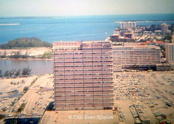 1966 - the bayfront area of downtown Miami and the Brickell area