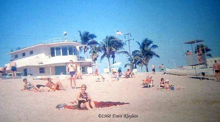 1968 - sunbathers at Haulover Beach