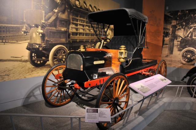 1910 Brockway Motor Wagon, on loan from Mack Truck Historical Museum.