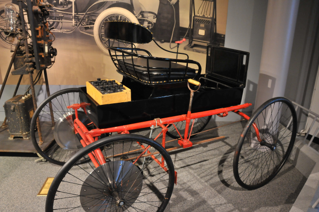 1895 Electrobat IV, on loan from Frank McDonnell. Made by Henry G. Morris and Pedro Salom.