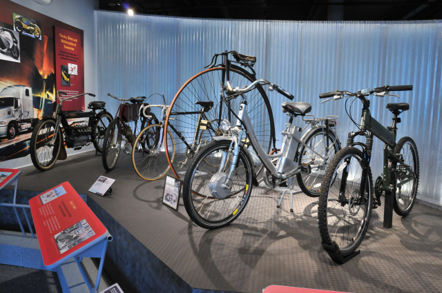 Bicycles through the years.