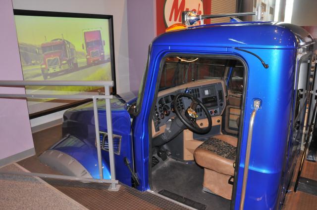 Mack Truck driving simulator.
