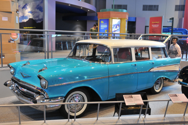 1957 Chevrolet 210 Station Wagon, on loan from Dave Holschwander.