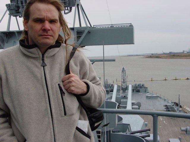 mike aboard the USS Alabama