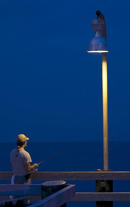 Bonnabel pier fisherman