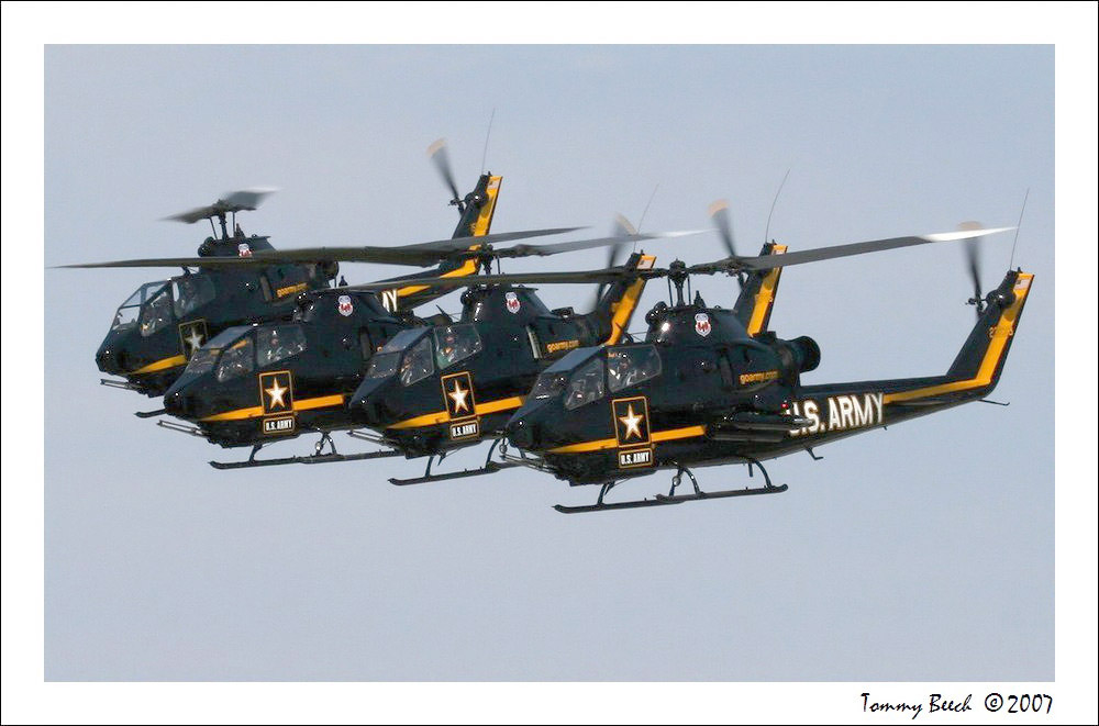 U.S. Army Sky soldiers - Cobra Helicopter Demonstration Team