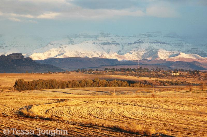 Snow over Sandstone Estates lands