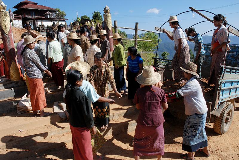 Monastry workers