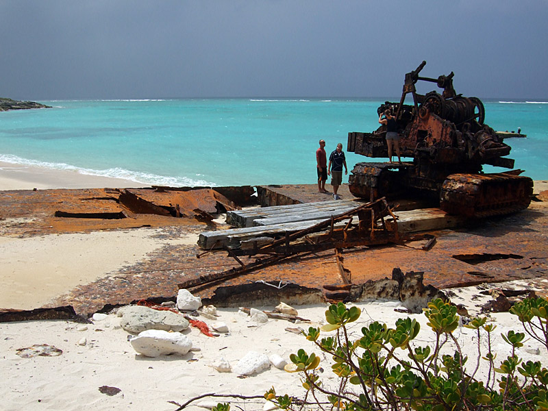 Rusting Barges on the Beach Middle Caicos 14