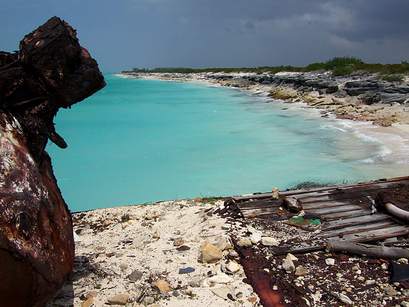 Rusting Barges on the Beach Middle Caicos 15