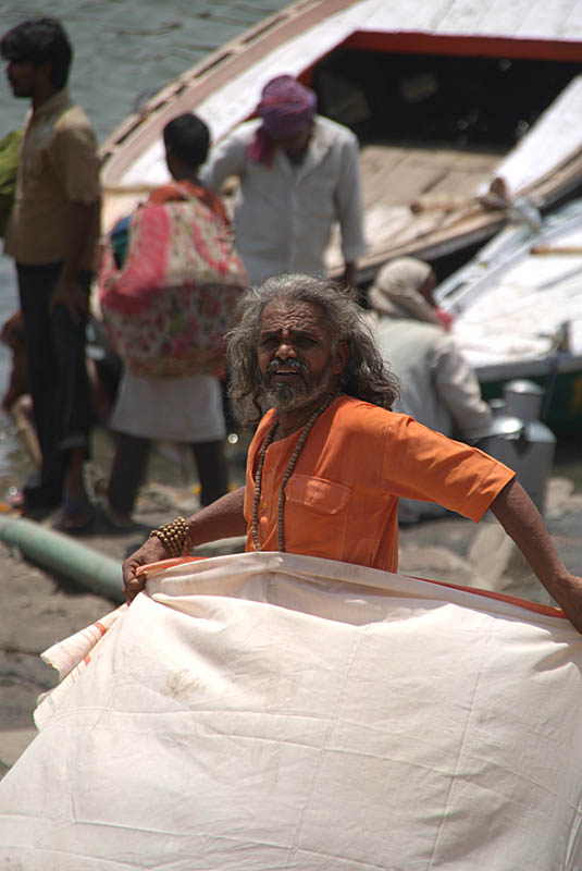 Drying his Dhoti