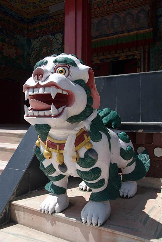Colourful Fu at Kopan Monastery