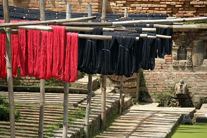 Dyed Thread Drying Bhaktapur