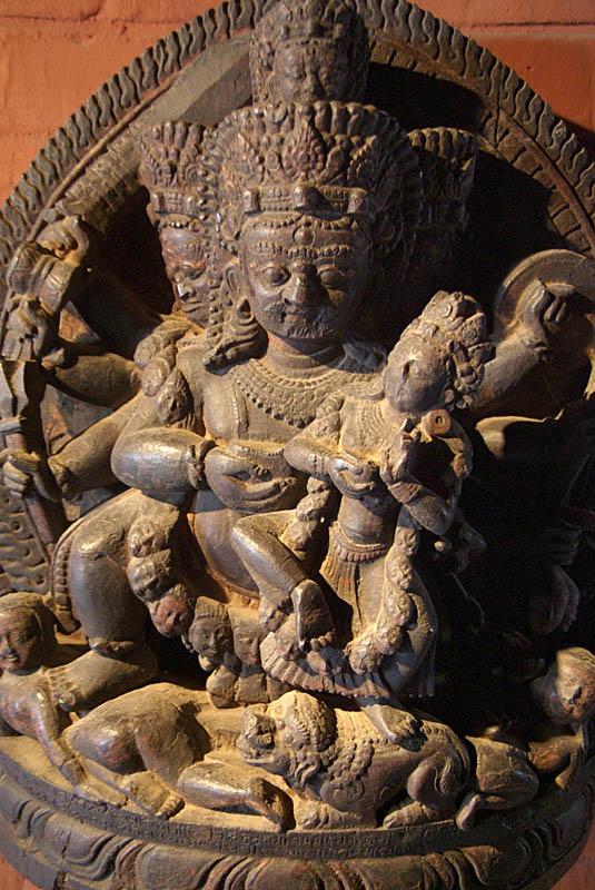 Goddess Kali in Woodcarving Museum Bhaktapur