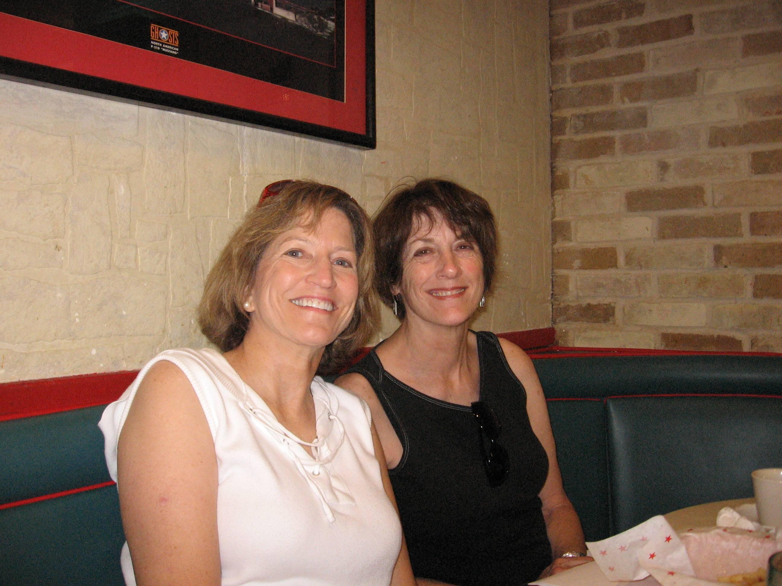 Lindas sister and herself in San Antonio