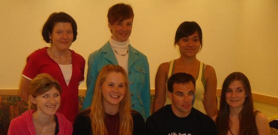 Nora, Stefani, Sile, Jacqui, Liz, Jason, and Stephani