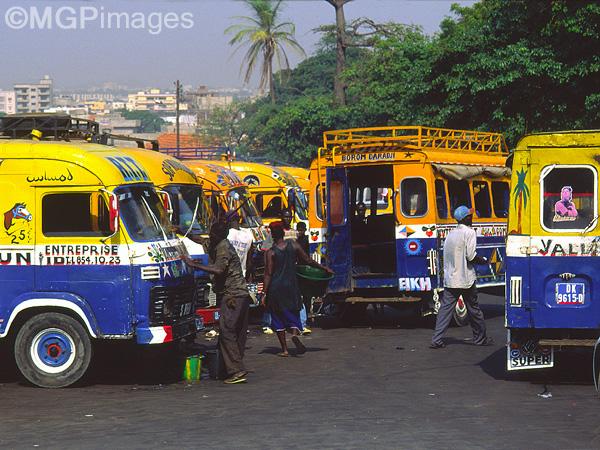 Bus station, Dakar, Senegal