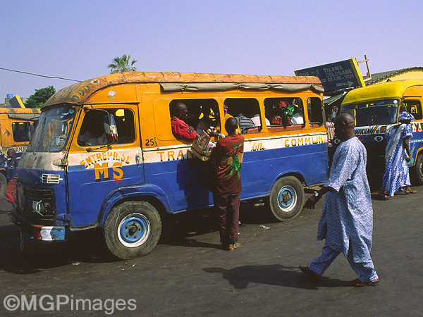 Bus station, Dakar, Senegal