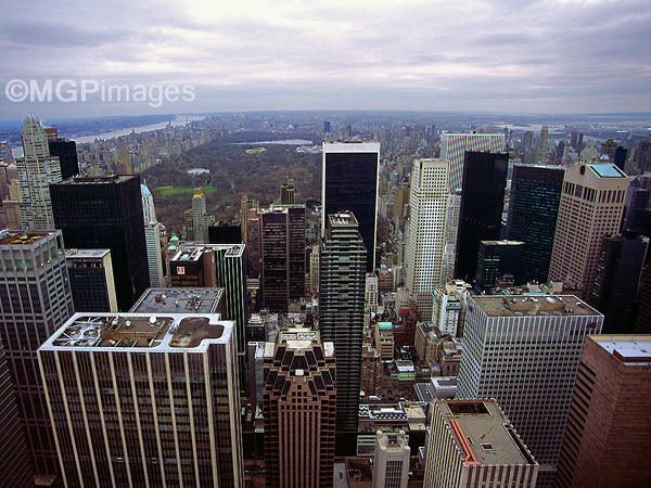 Central Park from the Rockefeller Center, New York, USA