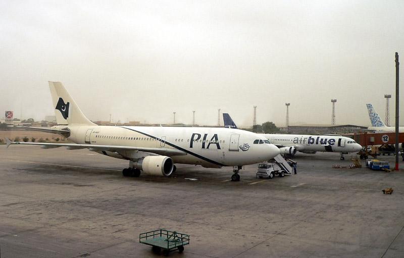 PIA A310, Airblue A320 & PIA B74M Tail - 611.JPG