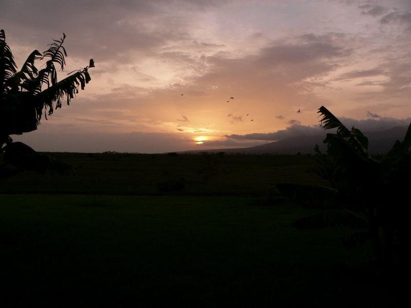 Sunset at the Ngorongoro Farm House