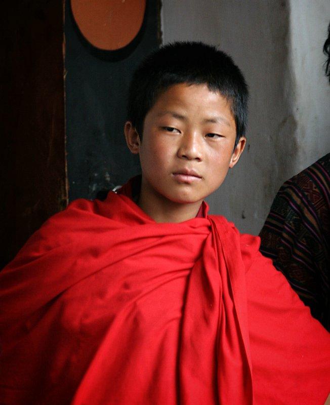 young monk-Bhutan