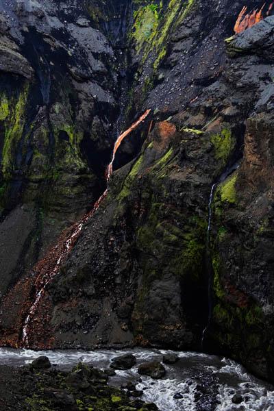 Waterfall at Markarfljot
