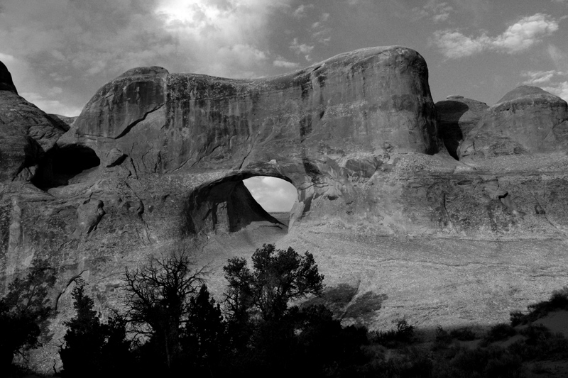 Tunnel Arch at Sunrise Black and White.jpg