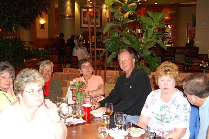 Darlene Pitts, Joyce Zarzyski, Betty Fox, Shirley & Harvey Pace, Eilean & Webb Howard