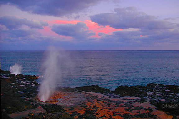 Spouting Horn Sunset -04-08-06