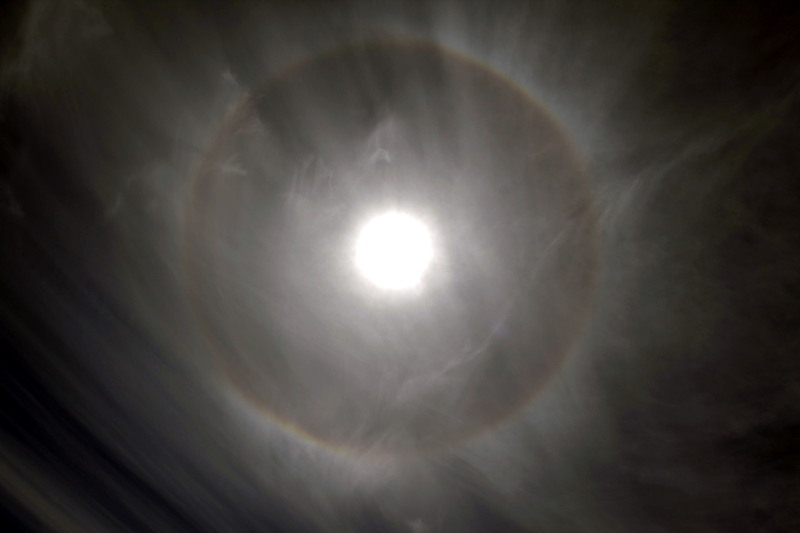 Grand Teton National Park, Wyoming - Ring around the sun