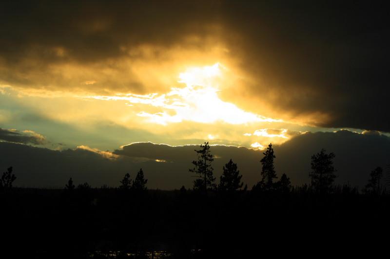 Sunset at Norris Geyser Basin - Yellowstone National Park