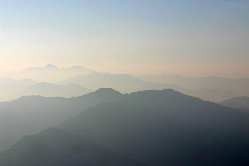 Mountains, Morning glow, Rishikesh, India