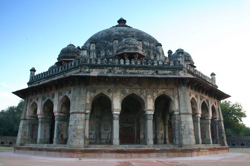 The Isa Khan tomb against the sky, Humayuns tomb complex, Delhi