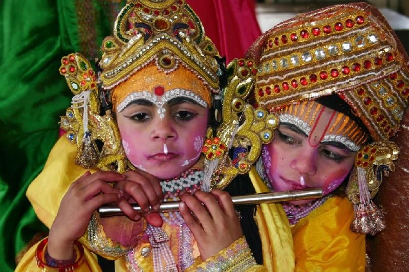 Krishna and Radha, Durgiana Temple, Amritsar, Punjab