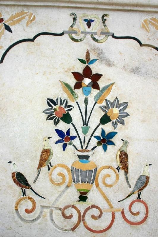 Marble work, Durgiana Temple, Amritsar, Punjab