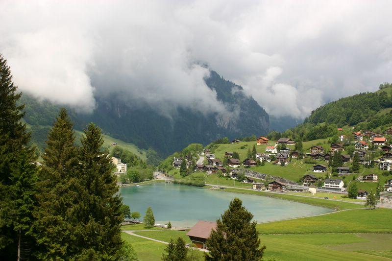 Lake, Village, Engelberg, Switzerland