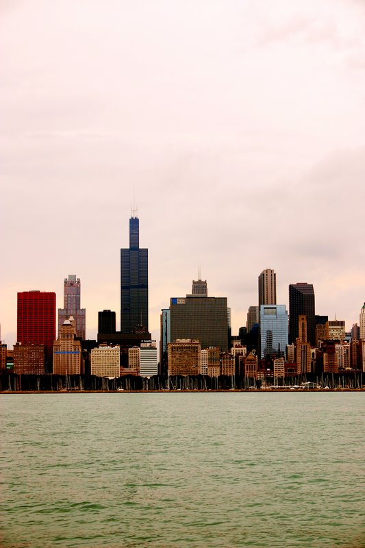 Sears Tower at sunset, Chicago