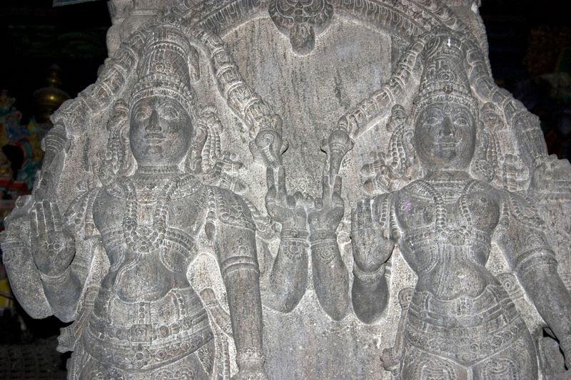 Half man, half woman, Meenakshi temple, Madurai, India