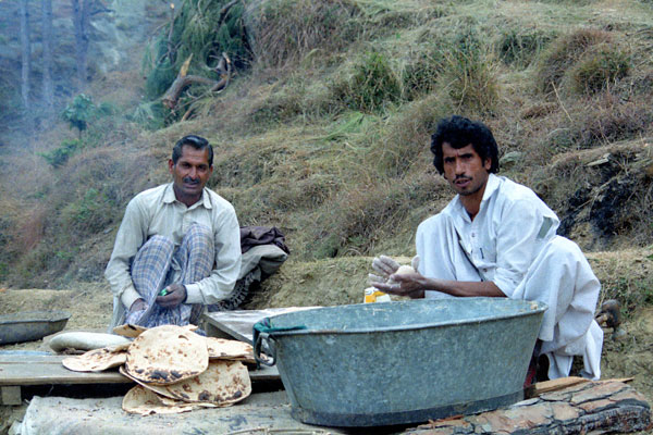 Cooking chappatis