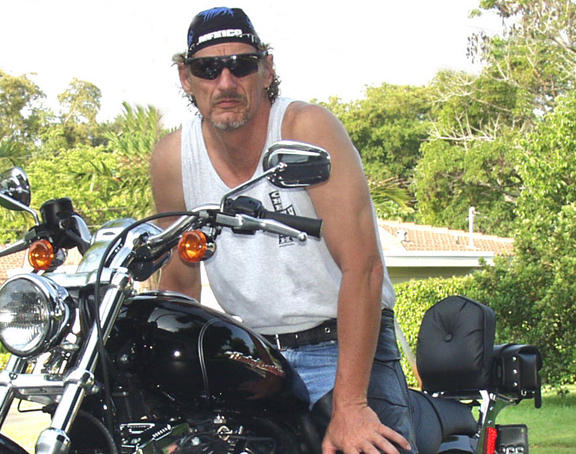 Summer of 2004, With new Harley Sportster 1200, and full screaming Eagle package.