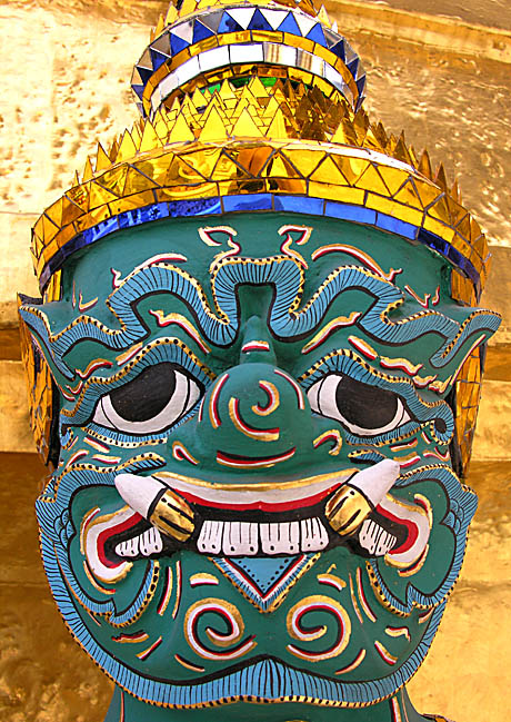 Closeup of demon-guardian I