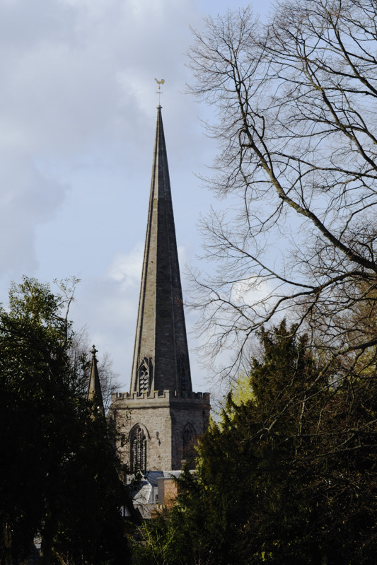 All Saints tower from Castle Green