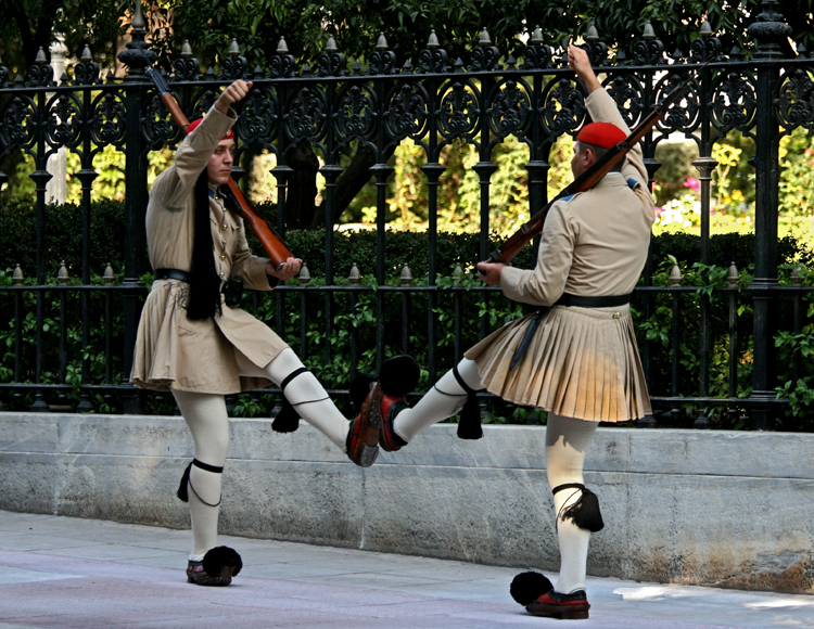 Evzone soldiers