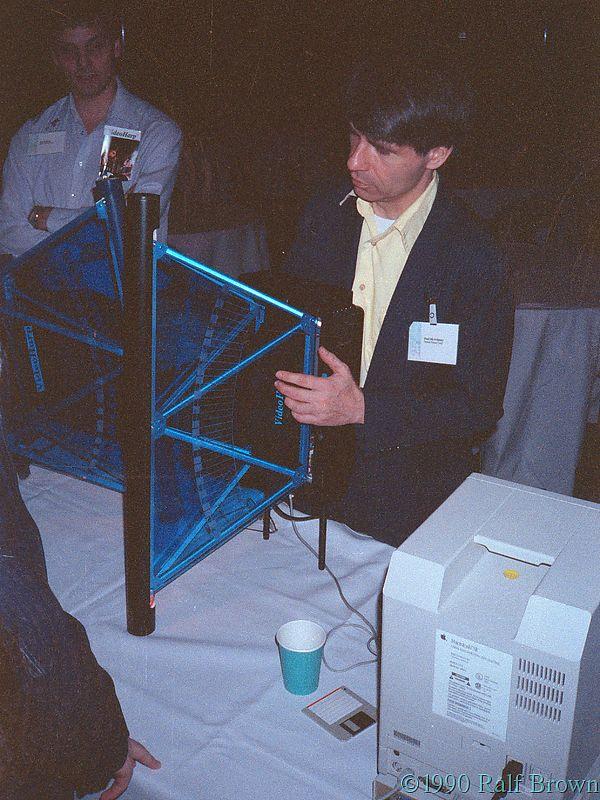 Paul McAvinney demonstrating the Video Harp