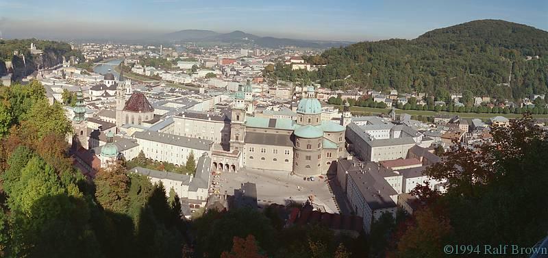 Salzburg, Austria seen from Fortress Hohensalzburg